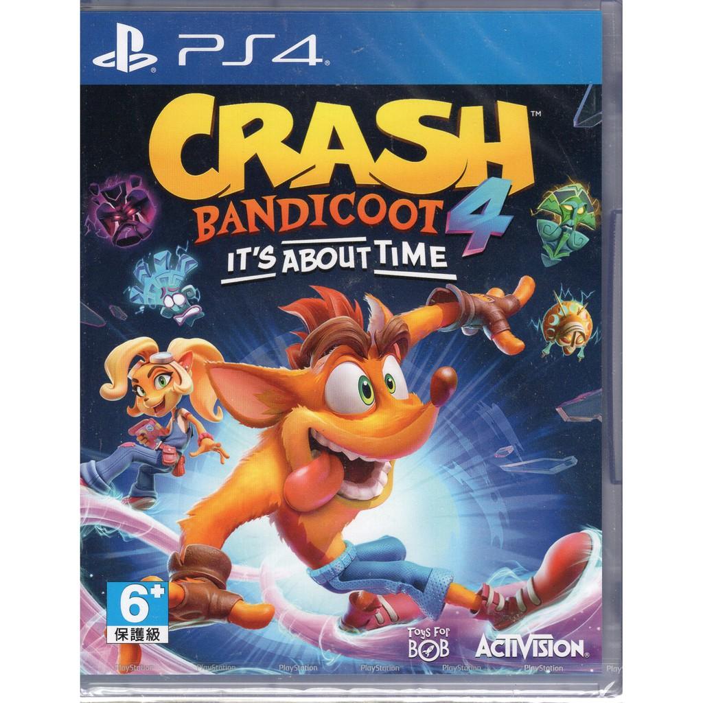 PS4遊戲 袋狼大進擊 4 時空之旅 Crash Bandicoot 4 英文版【魔力電玩】