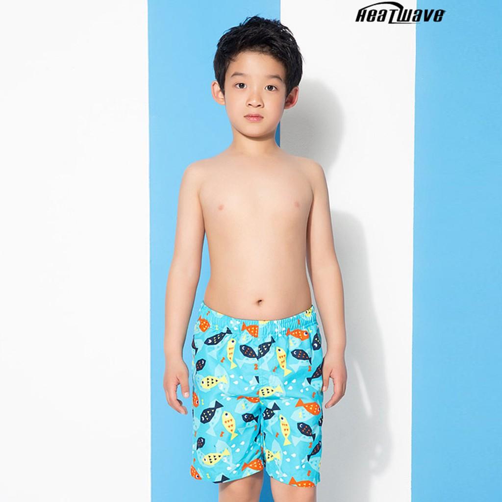 Heatwave熱浪 兒童海灘褲 fun趣彩游魚 D012 沙灘褲男童