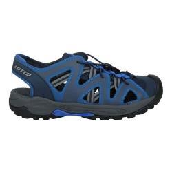 LOTTO 男排水護趾涼鞋-休閒 健走鞋 水陸鞋 反光 海邊 戲水