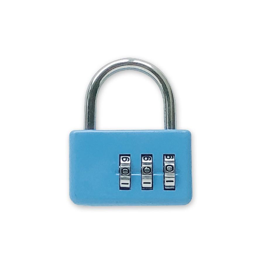 (特)手作之三碼密碼鎖(藍) SK-34C (墊腳石購物網)
