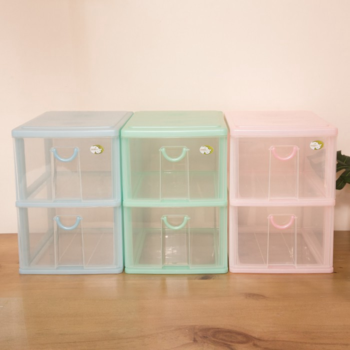 大物二層收納架二層櫃 抽屜整理箱 收納箱 收納盒 塑膠盒 文具盒 台灣製 廠商直送
