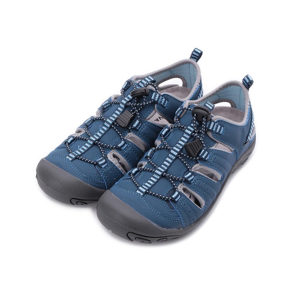 老船長 束繩護趾水陸鞋 藍 女鞋