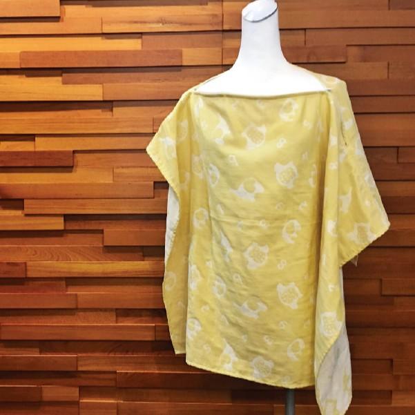 日本雙層棉紗∥行動輕便哺乳巾│拉鍊式哺乳巾│外出衛生巾│推車遮陽罩(86X86cm)