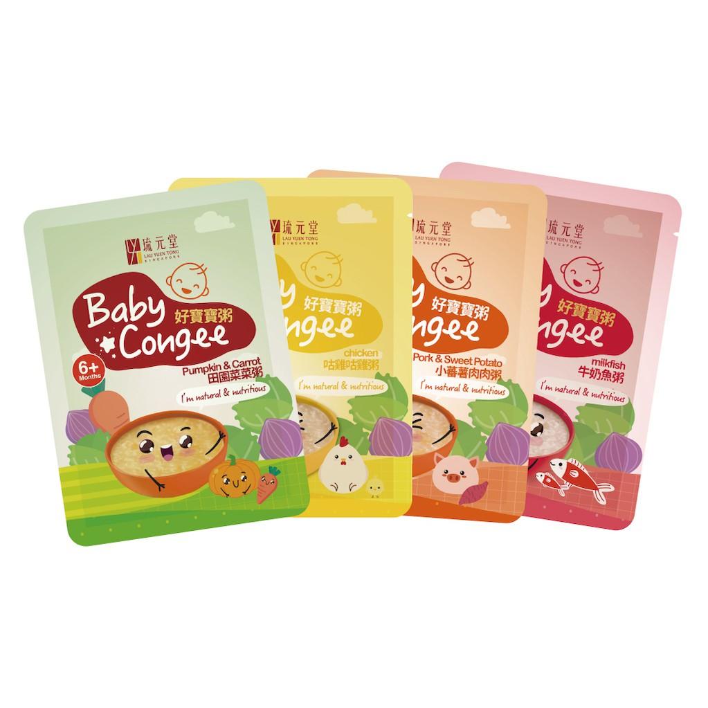 琉元堂 好寶寶粥 綜合口味 (150公克x16包) 天然無添加嬰兒副食品