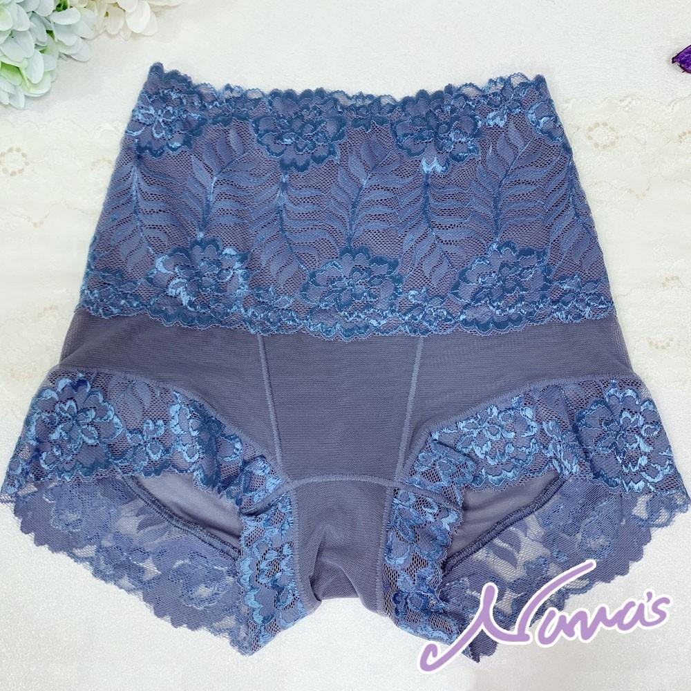 【露娜斯Nunas】收腹提臀輕薄六角網布機能高腰美體褲  P3783 台灣製 藍綠 / 粉 / 黃 / 深藍【出清】