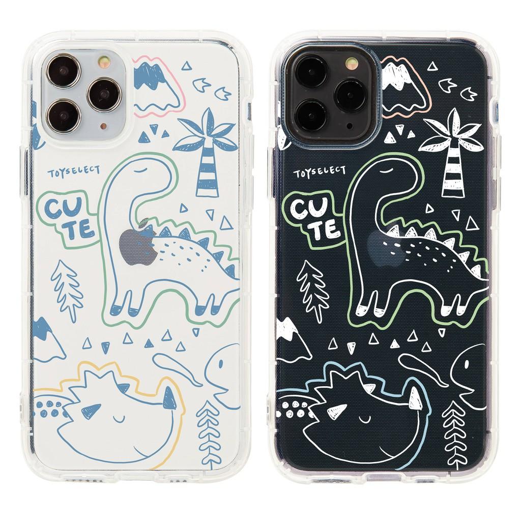 【TOYSELECT】童趣侏羅紀透明空壓iPhone手機殼