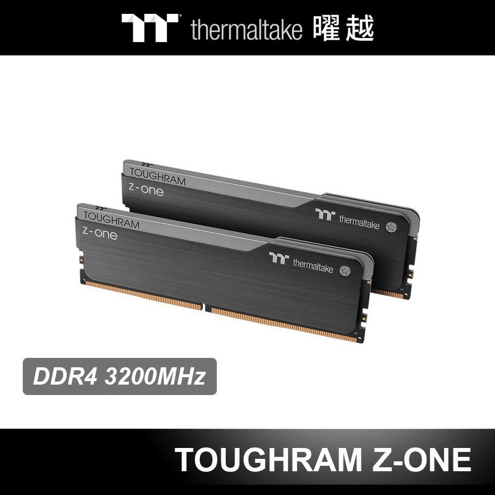 曜越 TOUGHRAM 鋼影 Z-ONE 超頻 記憶體 DDR4 3200MHz 16GB/8GB 黑色