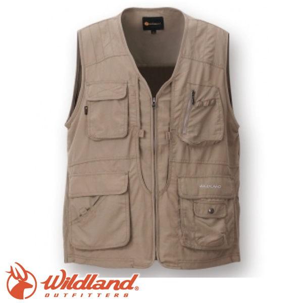 【Wildland 荒野 中性透氣UV多口袋背心《卡其》】W1706/吸濕快乾/輕薄耐磨/UV30+/悠遊山水