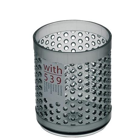 inomata-壓克力桌上型圓形筆桶置物4539收納桶(丸)  白色/ 黑色