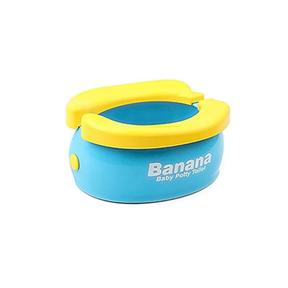 【孩子國】可攜帶折疊香蕉馬桶/坐便器/mini垃圾桶(送清潔袋20個)