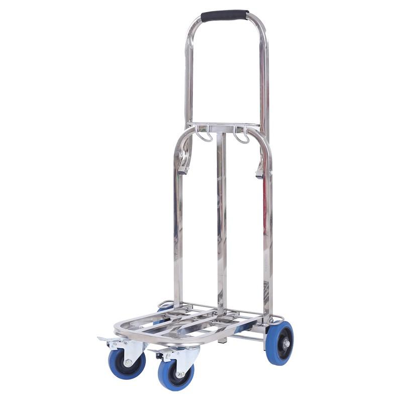 匠者不銹鋼折疊行李車便攜爬樓手拉車小推車拖車拉桿買菜車載重王