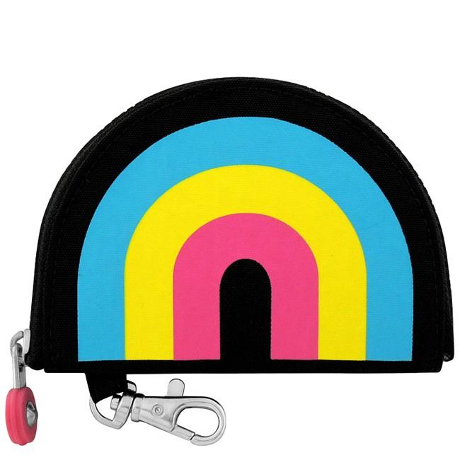 KIPLING 彩虹圖樣半圓形鑰匙零錢包