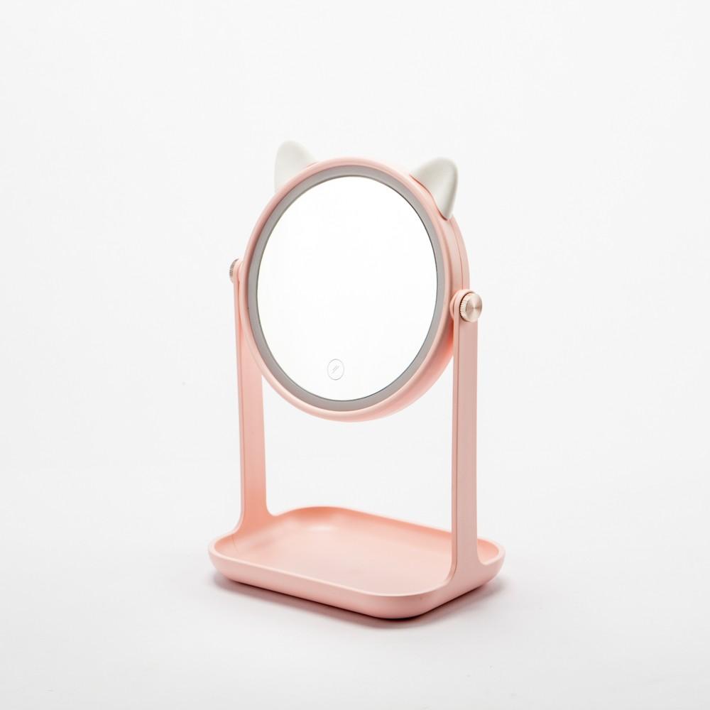 【生活工場】LED美肌收納兩用貓咪座鏡