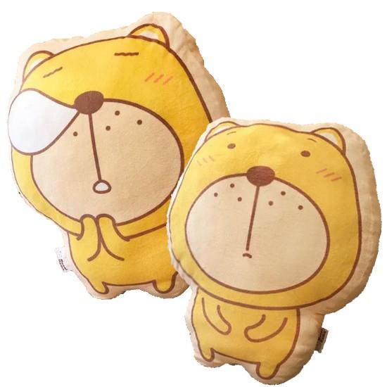 無奈熊 打瞌睡雙面造型抱枕 絨毛