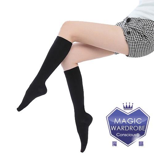 [ 買三送二 ]  魔莉絲200丹  萊卡材質小腿襪(五雙,數量下1)  透膚亮面 顯瘦腿襪壓力襪醫療襪中統襪靜脈曲張襪