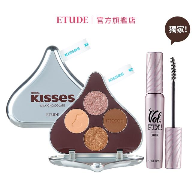 ETUDE 玩轉色彩四色眼彩盤#Kisses 獨家組 官方旗艦店