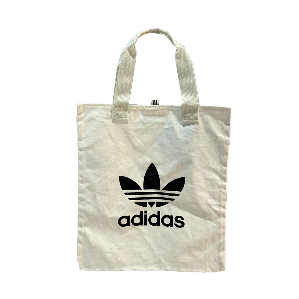 ADIDAS 手提袋 購物袋 托特包 白色 三葉草 SHOPPER TREFOIL - DX2047
