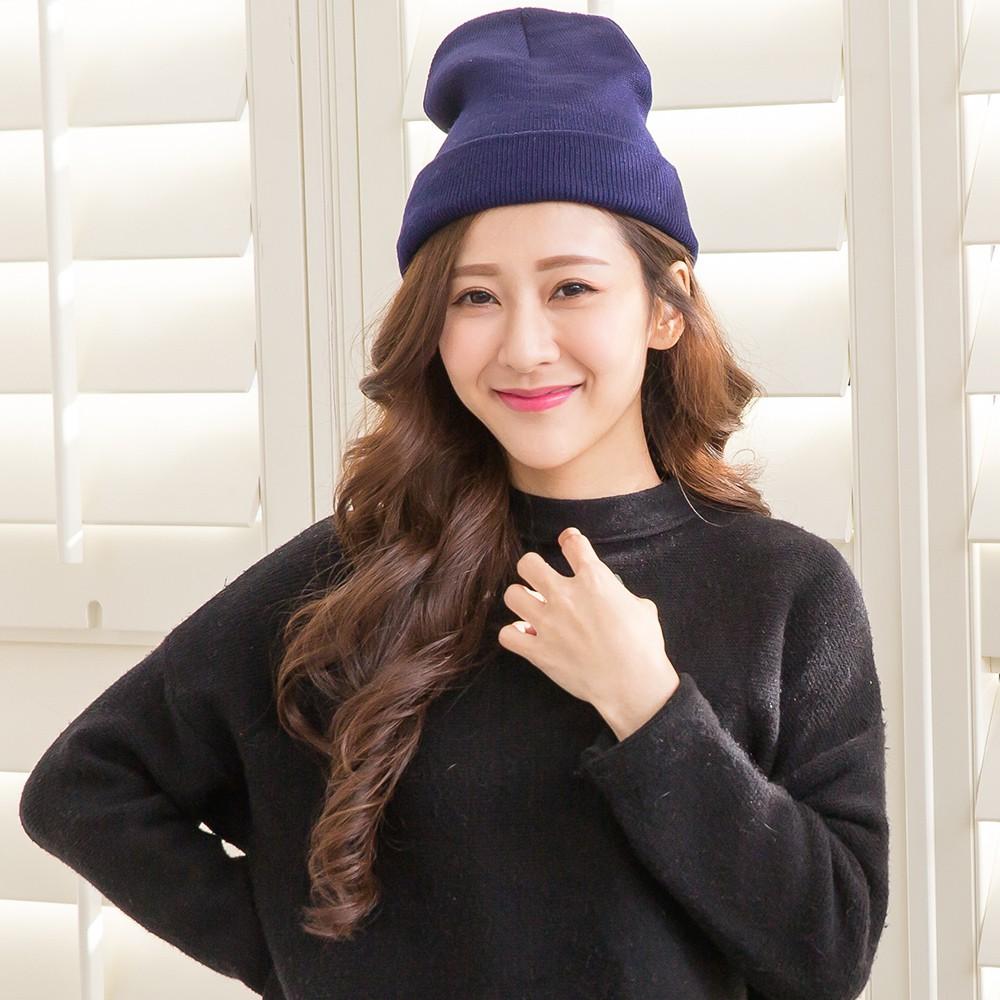 【Wonderland】韓版時尚保暖針織帽(藍)