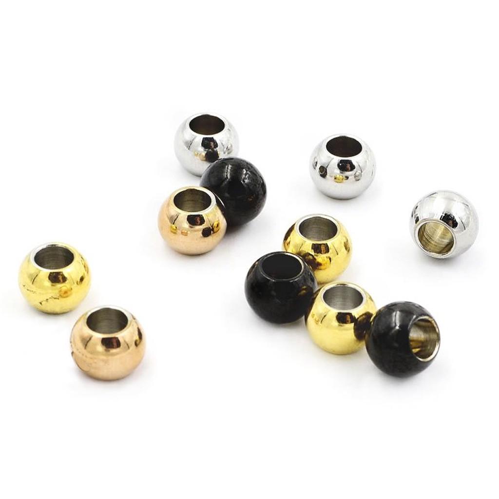 空心圓珠 串珠 鈦鋼 抗過敏 DIY配件 多用款 耳環/項鍊/手鏈 手工自由搭配 實拍 艾豆『P10』