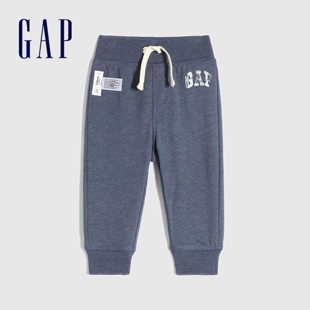 Gap 嬰兒 Gap x Disney 迪士尼系列Logo聯名休閒褲 843674-灰藍色