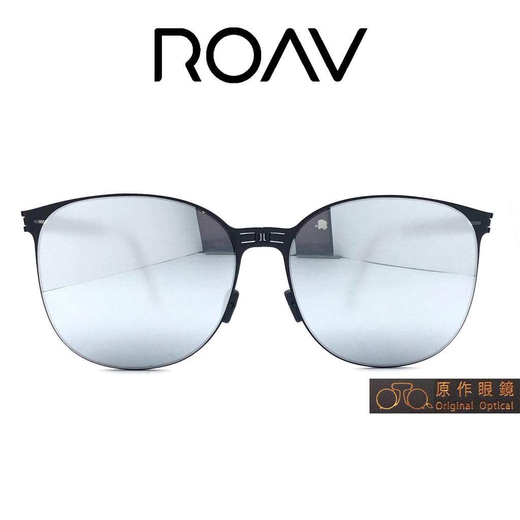 ROAV 折疊太陽眼鏡 Kendall NY004 (黑) 白水銀 OVERSIZE系列【原作眼鏡】