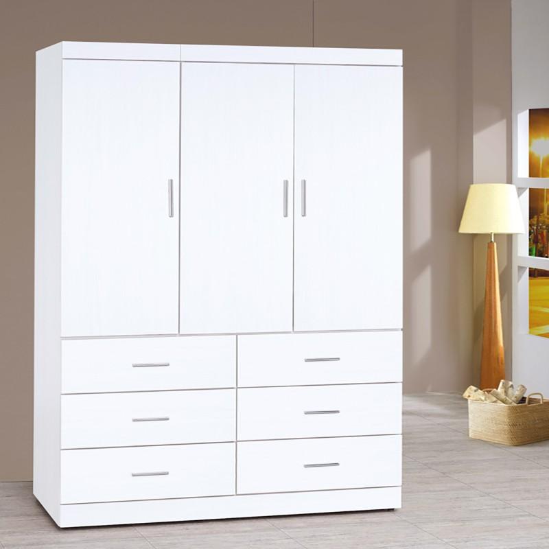 【SA125-4】 純白耐磨4X7尺衣櫥