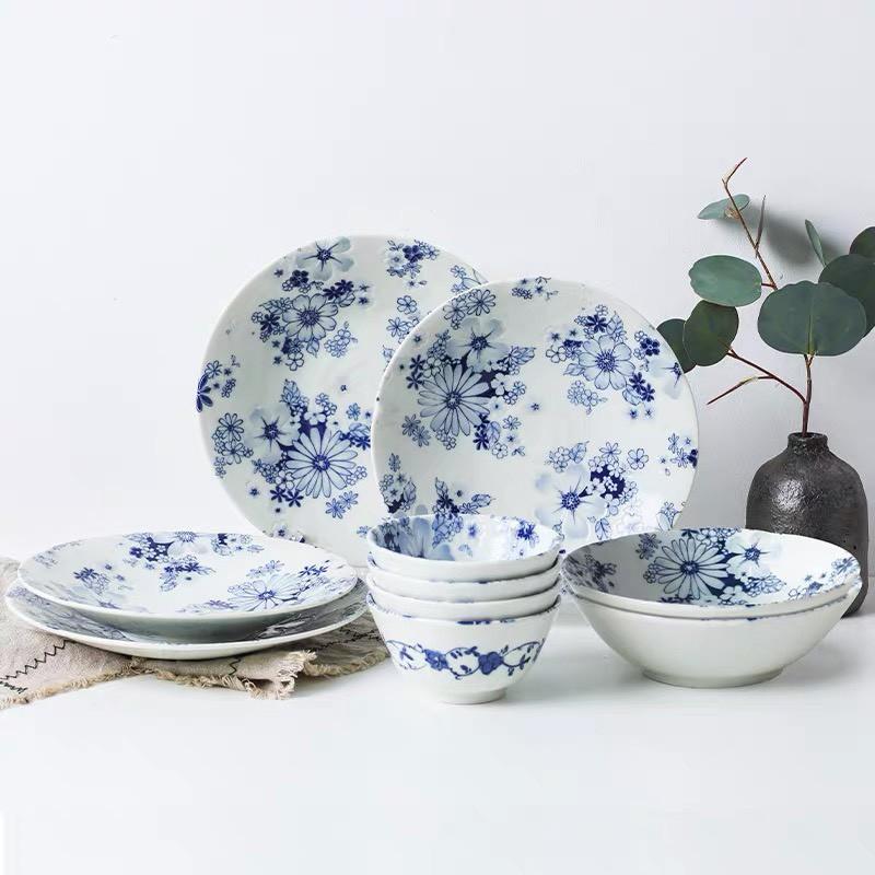 【日本製】日本陶瓷碗盤 陶瓷盤 日本碗 陶瓷碗 羽之菊陶瓷餐盤 湯盤 淺盤 飯碗 丼飯碗 湯碗
