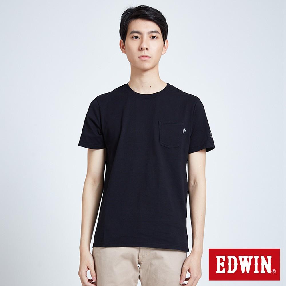 EDWIN BASIC POCKET短袖T恤(黑色)-男款