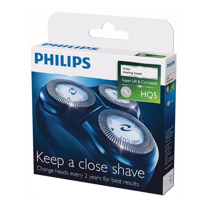 PHILIPS 飛利浦 刮鬍刀雙刀鋒設計3刀頭 刀片 HQ5 一盒3入裝