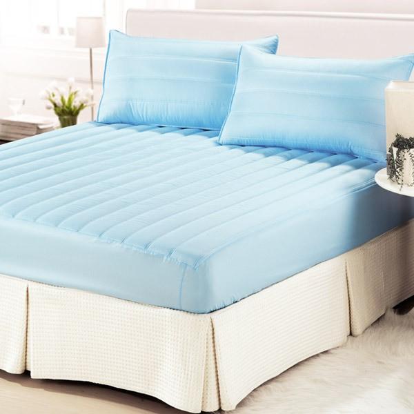 【CERES】台灣製 防潑水專利表布 三件式床包保潔墊標準 雙人