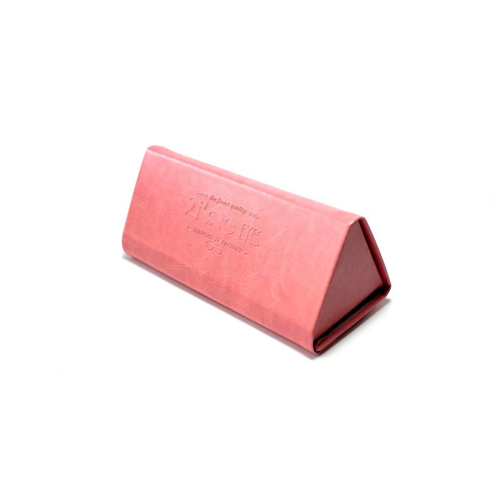 2is Bx03Tp 眼鏡盒│三角形可收納眼鏡盒│仿皮革 粉紅色│眼鏡盒