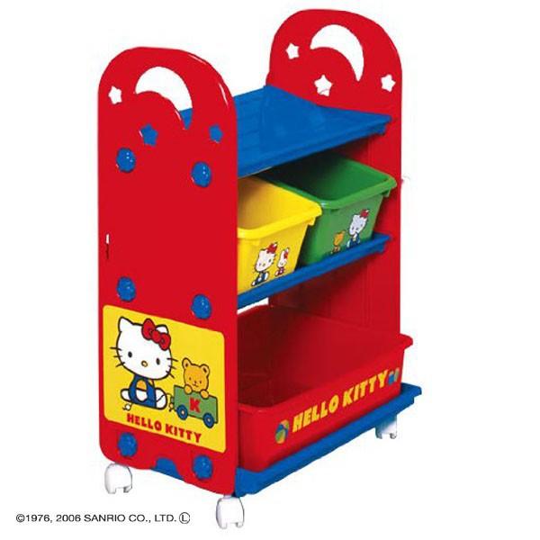 日本 迪士尼 Disney kitty凱蒂貓玩具收納櫃【麗兒采家】