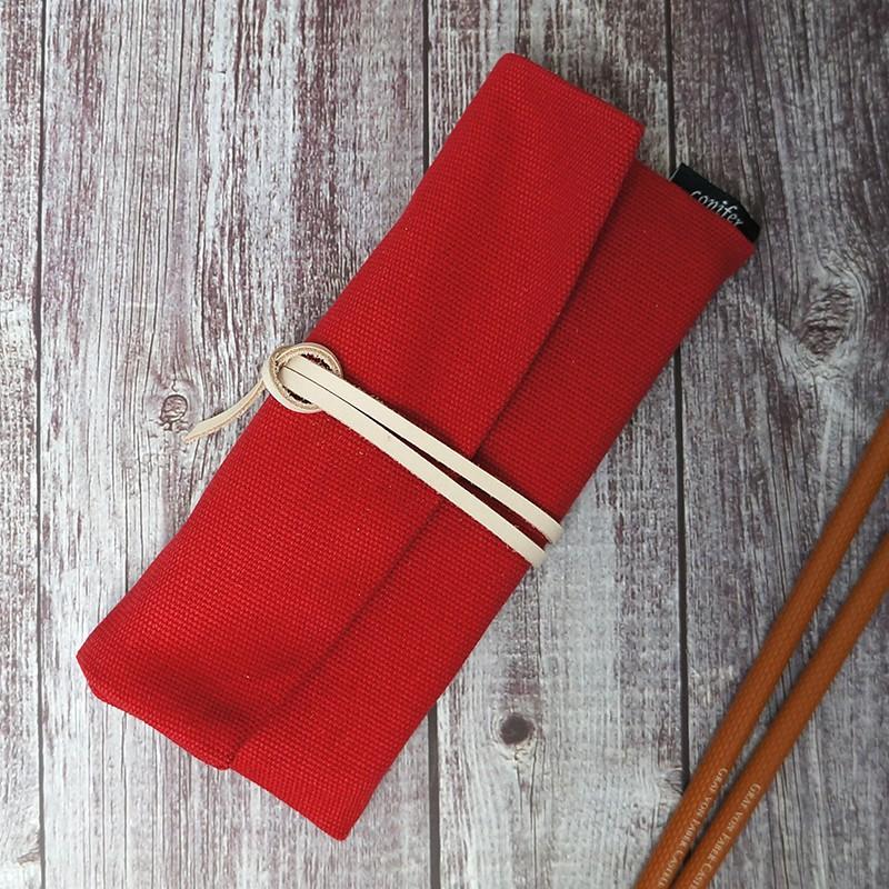【Conifer綠的事務用品】牛津簡約綁繩筆袋