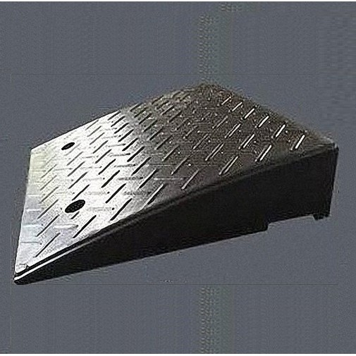 【海夫健康生活館】斜坡板專家 門檻前斜坡磚 輕型可攜帶式 橡膠製(高13.8公分x42公分)