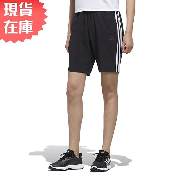 【現貨】ADIDAS 3-STRIPES 女裝 短褲 訓練 休閒 拉鍊口袋 黑LOGO 黑【運動世界】FT2877