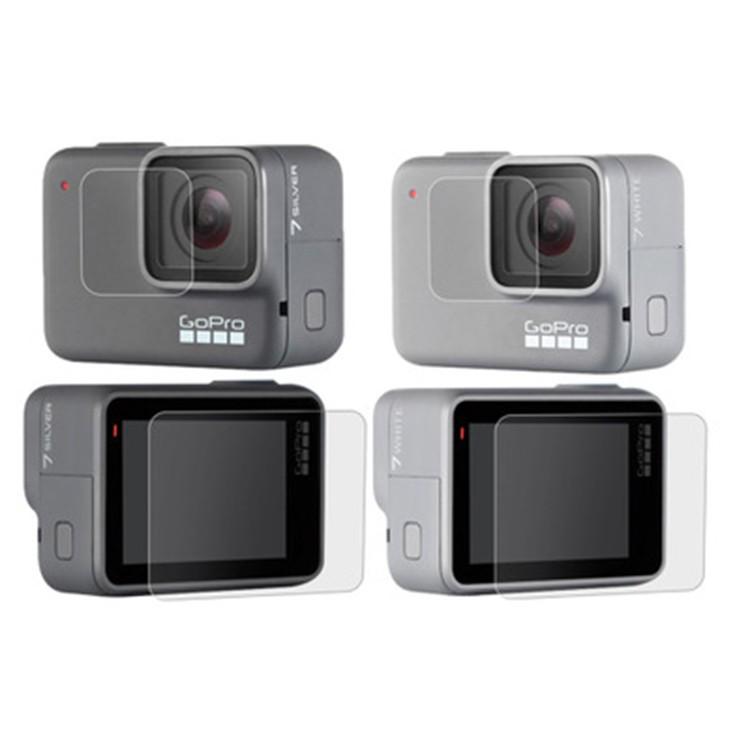 GoPro 鏡頭螢幕玻璃保護貼 鋼化膜 (Hero7 White/Sliver)【極限專賣】
