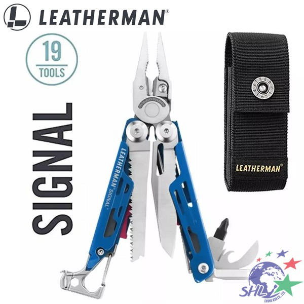 Leatherman SIGNAL 深藍/紅色工具鉗 / 打火棒、磨刀器、緊急哨 / 832741 【詮國】