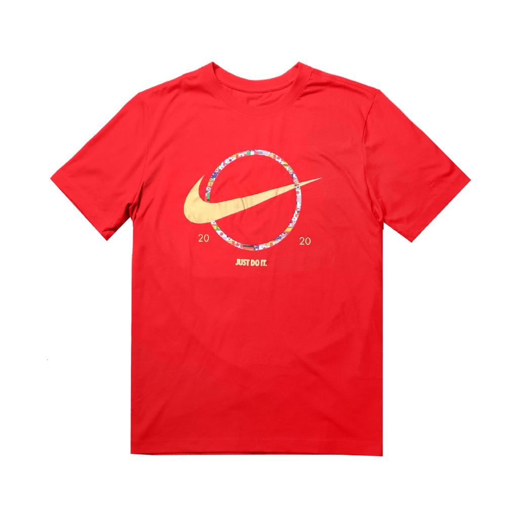 Nike 短袖T恤 NSW Swoosh T-Shirt 紅 彩色 男款 各國國旗 【ACS】 CT6872-657