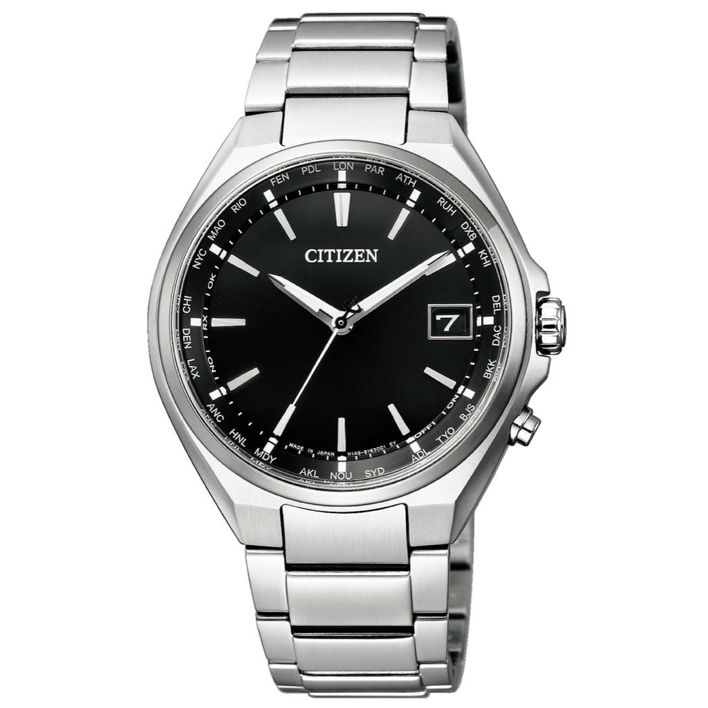 CITIZEN星辰 CB1120-50E 光動能電波對時鈦金屬時尚男錶