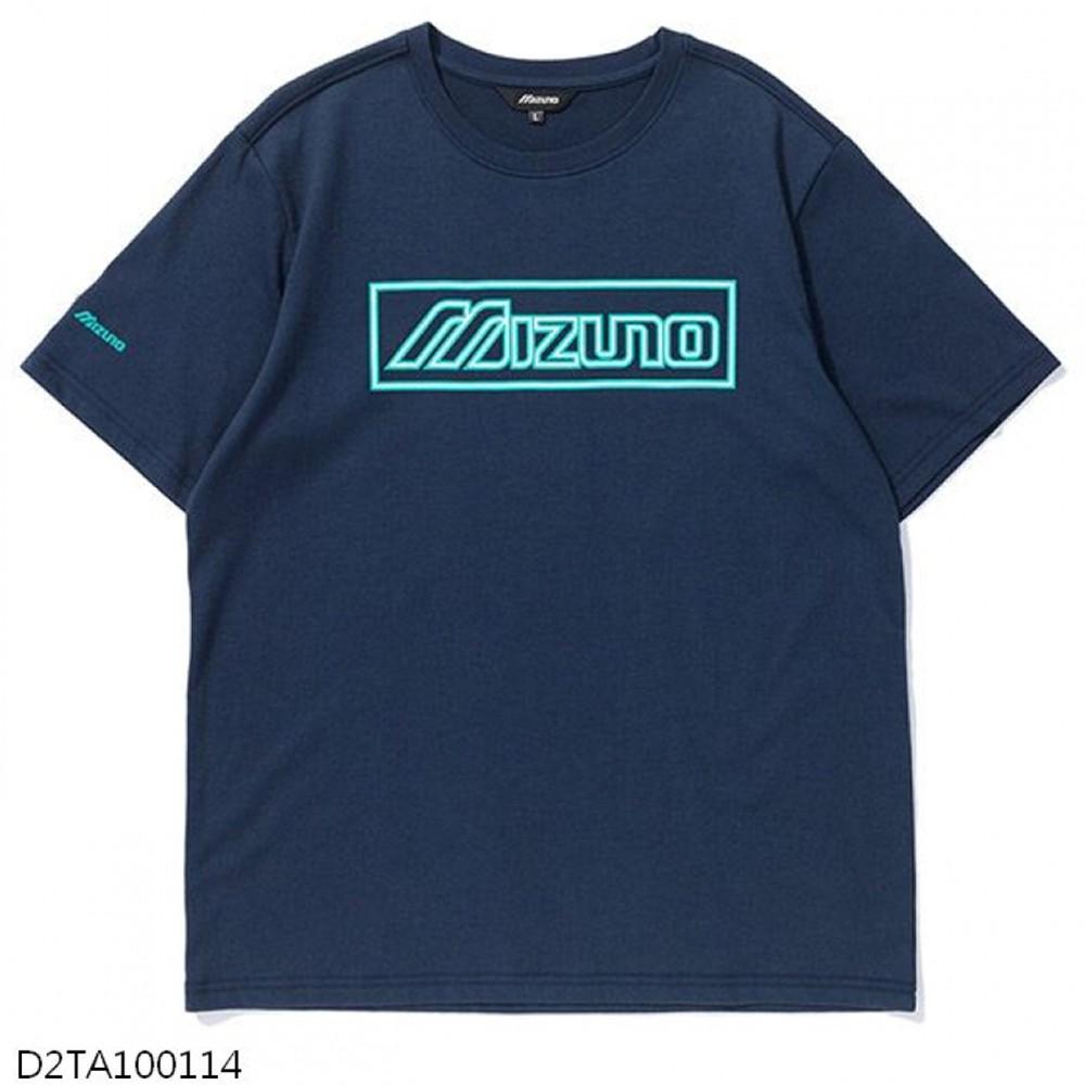 MIZUNO 男裝 短袖 T恤 1906 休閒 棉質 藍【運動世界】D2TA100114
