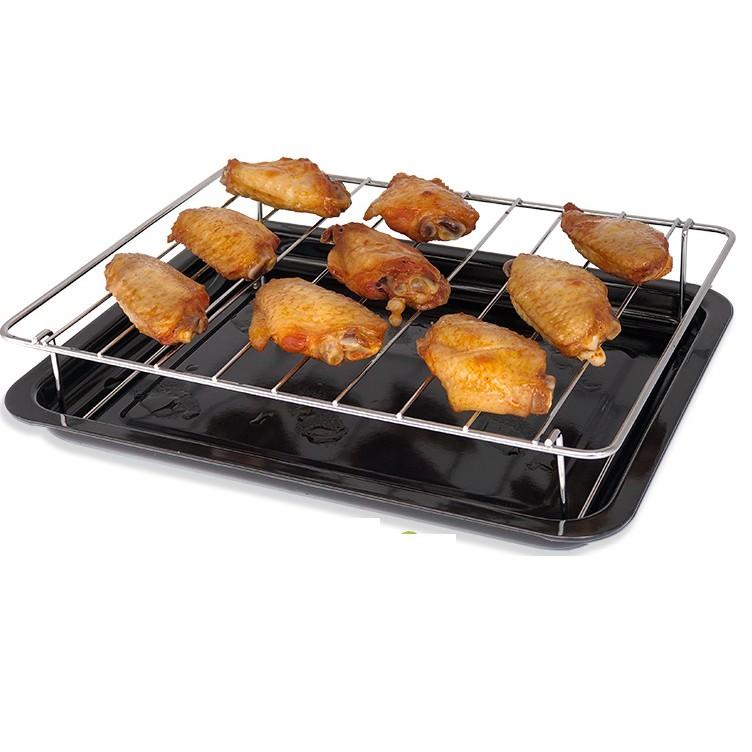 烤盤-微波爐光波爐20/23升燒烤架烤盤接油盤食物盤網架適用美的格蘭仕