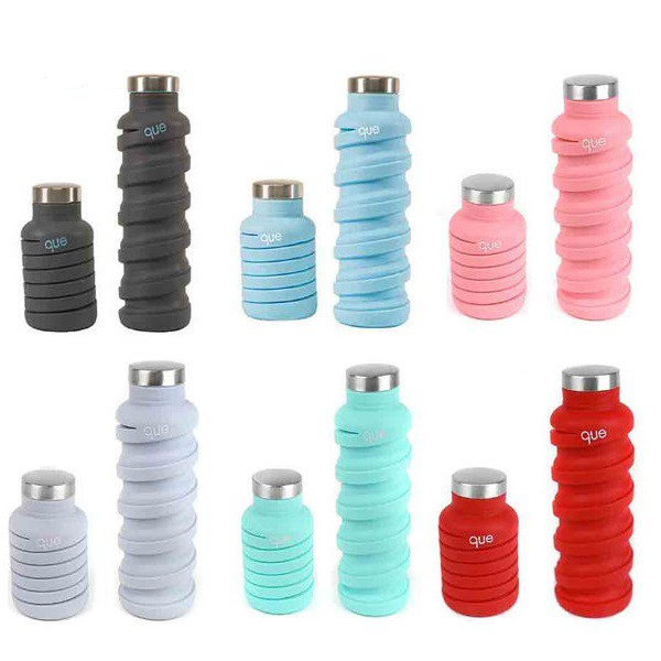 [出清下殺]【美國Que Bottle】伸縮運動外出水瓶600ml 共12色《屋外生活》運動水瓶 蝦皮獨家