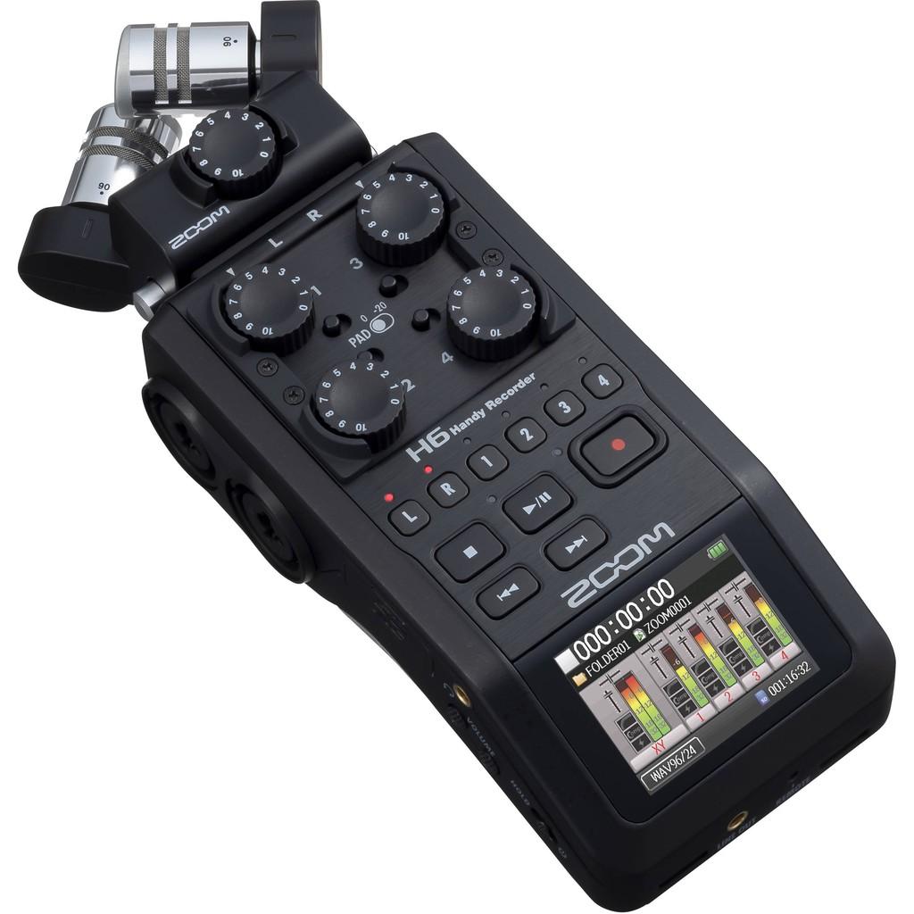 【凱傑樂器】ZOOM H6 BLACK 專業型錄音筆 手持 錄音機 2020新版