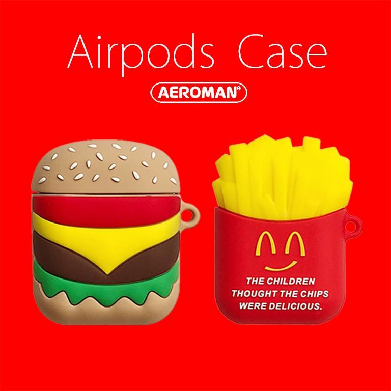 airpods保護套 速食 漢堡 薯條 爆米花 可樂 柴犬 無訊號 月光仙子 手仗 鈴鐺 拍立得 麻將 珍奶 DJ 唱盤