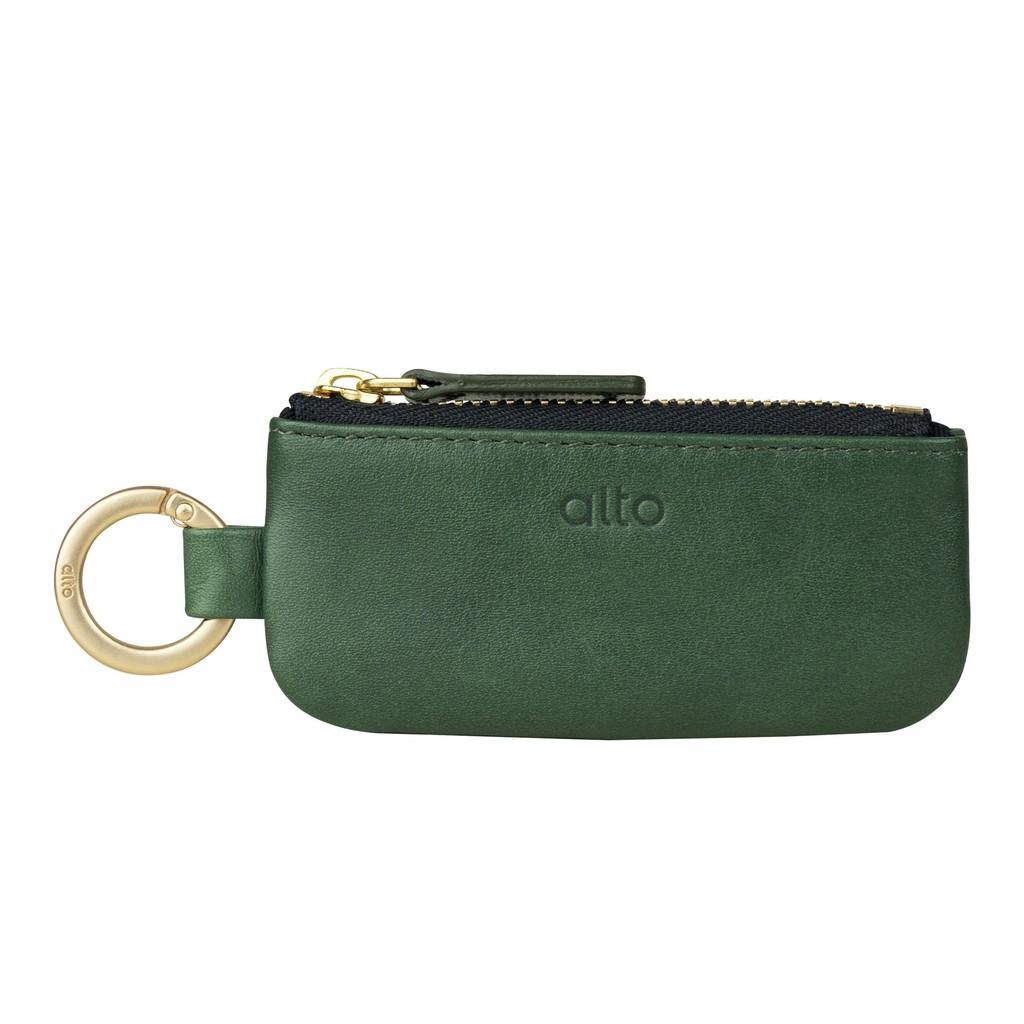 Alto 皮革鑰匙環零錢包 – 森林綠