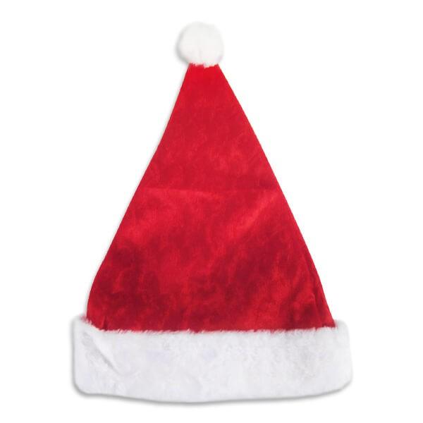 派對城 現貨 【16吋絨紋聖誕帽1入】 歐美派對 派對裝飾 穿戴 派對帽聖誕節 聖誕佈置 派對佈置 拍攝道具