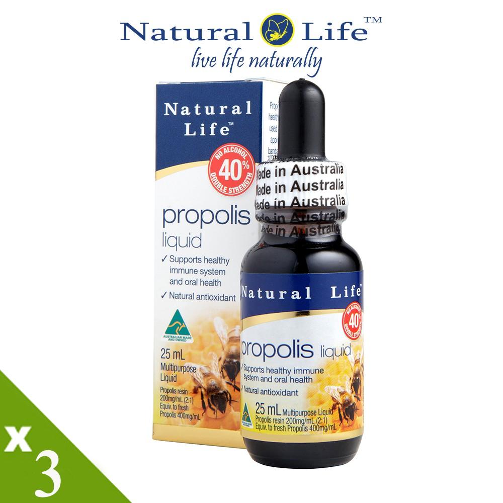 澳洲Natural Life 無酒精40%蜂膠液活力組(25mlx3瓶)