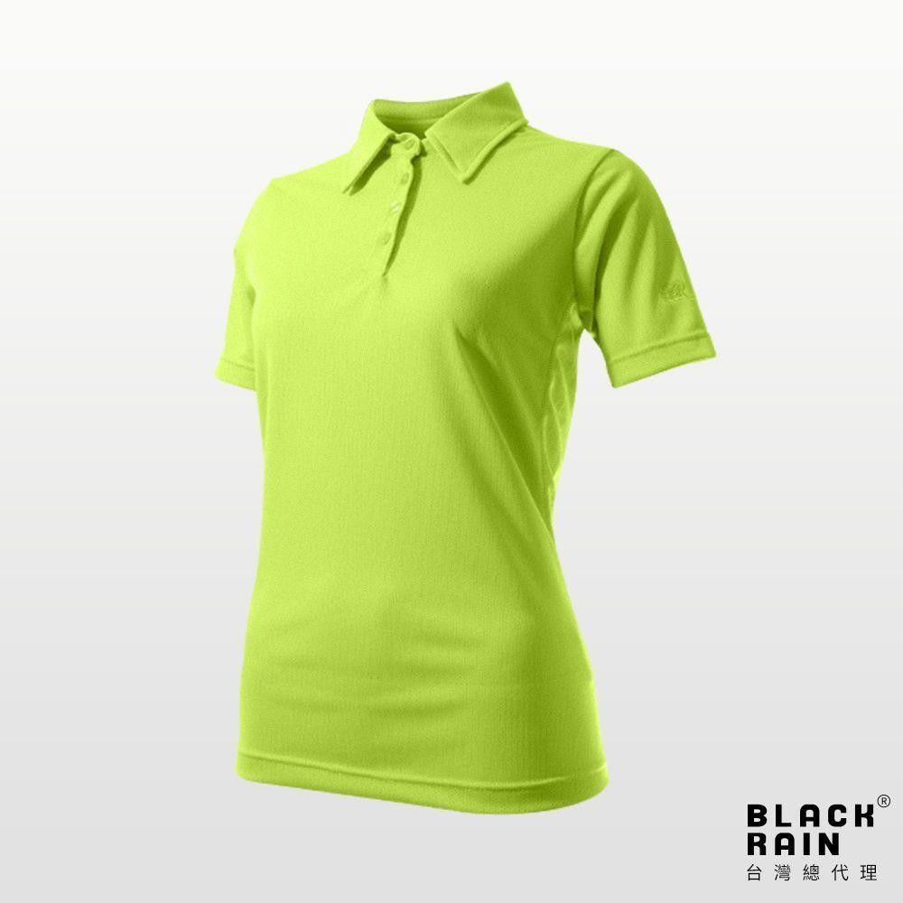 女款排汗POLO衫 BR-7BDE4 (3100 芥黃) 【荷蘭Black Rain】