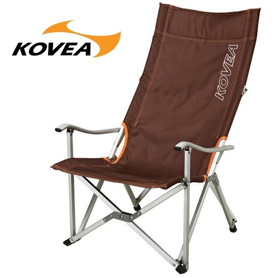 【KOVEA 韓國】扶手高背摺收椅 休閒椅 折疊椅 棕色 (KECT9CA-02)