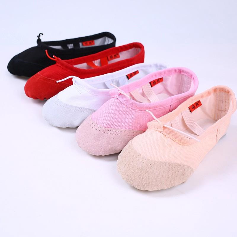 親子舞蹈鞋 現貨出清 兒童舞蹈鞋軟底夏季芭蕾舞鞋成人練功舞鞋跳舞鞋子瑜伽鞋貓爪鞋女